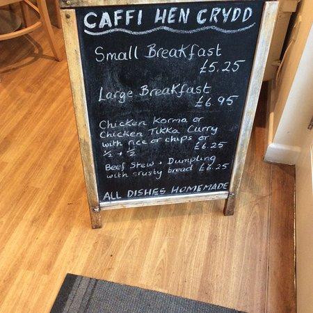 Dyffryn Ardudwy, UK: Caffi signage
