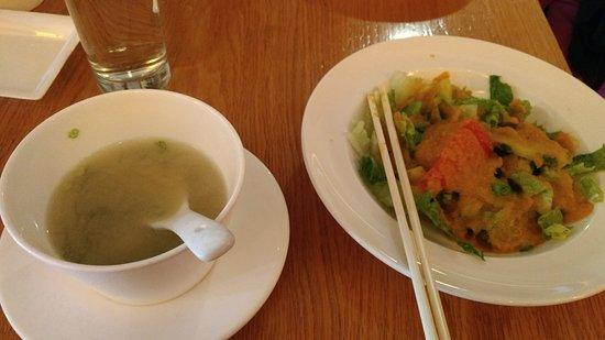 watawa entrada de sopa y ensalada
