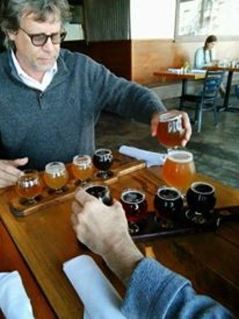 Dayton, TN: enjoying a beer flight