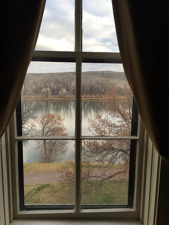 Fort Benton, MT: View of the Missouri River from room.