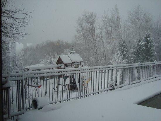 Sainte-Marthe, Καναδάς: Première neige à l'Auberge des Galants
