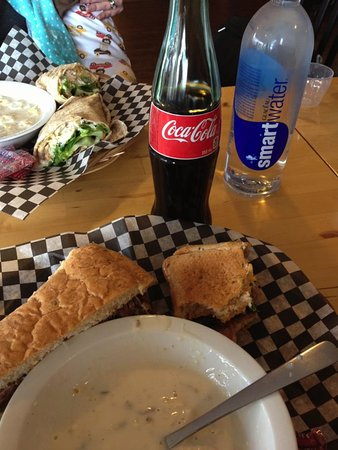 North Battleford, Canada: Soup and sandwich lunch