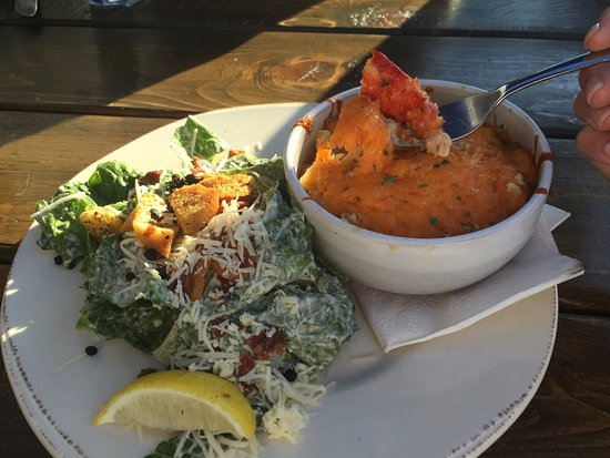 Rustico, Canada: Lobster Mac and Cheese with side Caesar salad
