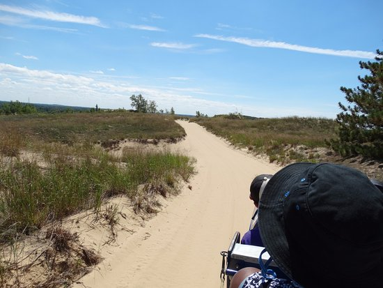 Saugatuck, MI: Fun dune ride!