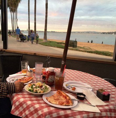 Village Pizzeria Bayside: can't beat this view!