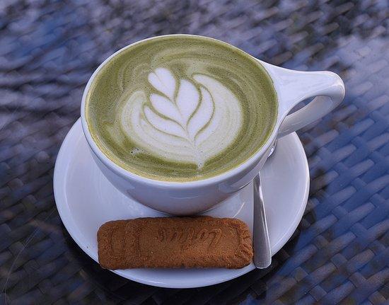 Behind the Bookstore Coffee Bar: Matcha Tea