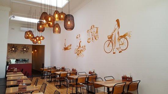 Castlemaine, Austrália: Restaurant interior mural