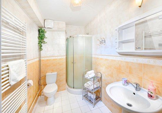 Tatranska Lomnica, Slovaquie : Bathroom in our apartments prepared for next guest