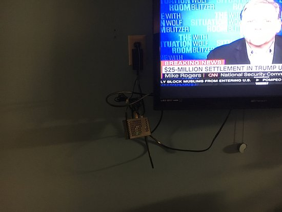 Park Falls, WI: Photo of how the tv & cable connections are in every room.