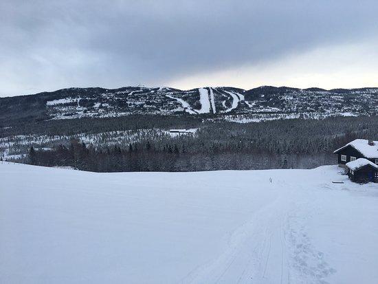 Nes Municipality, Noruega: Nesbyen alpinsenter in the distance !🙏
