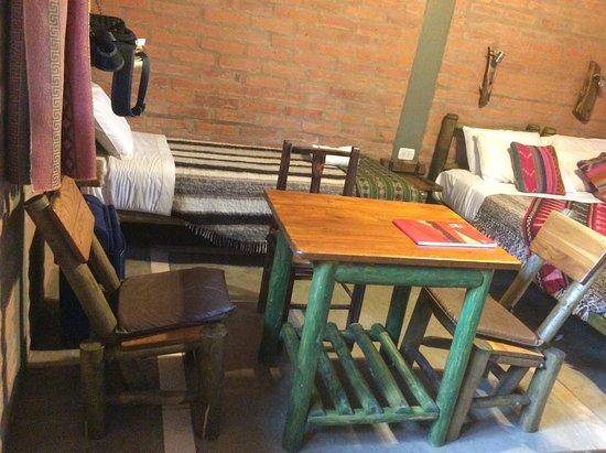 Cerro Del Valle Hotel Rustico: Muebles rústicos