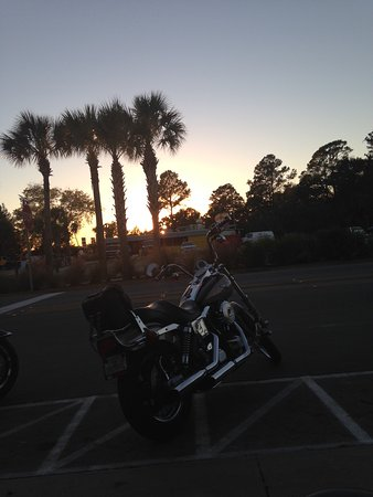 Saint Marks, FL: Sunset down the road