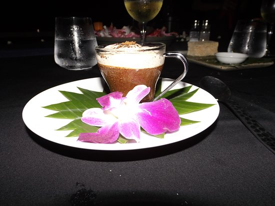 Destination Dining: Chocolate mousse with bailey's and cinnamon cream topping