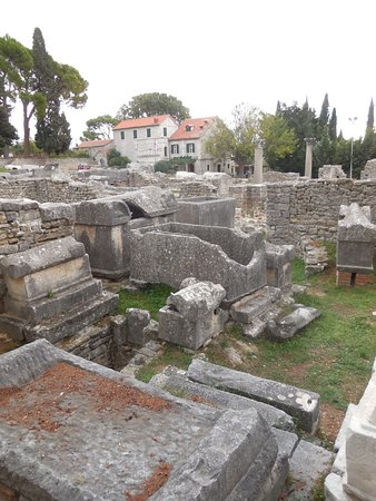 Solin, Croatia: just a small corner of the site , a town which held about 40000 people .
