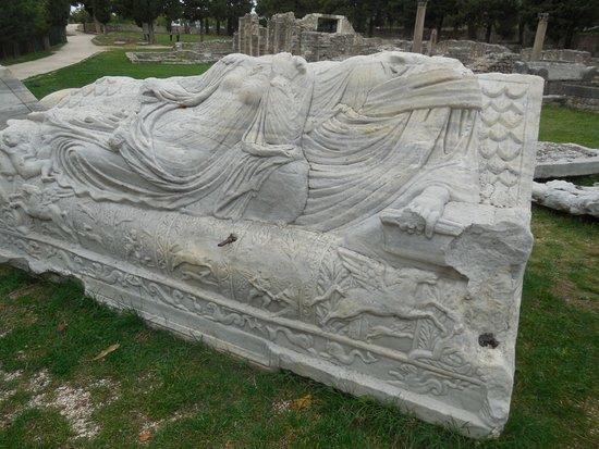 Solin, Croatia: A sample of the beautiful sarcophagi