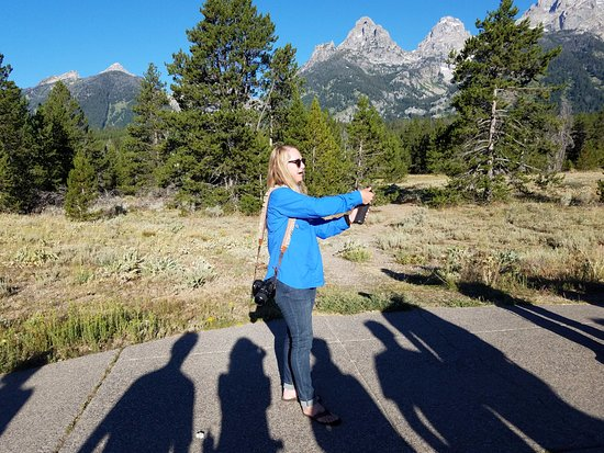 Gardiner, MT: Emily Jo teaches the group about bear spray