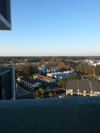 BlueWater Resort: view from 14th floor balcony