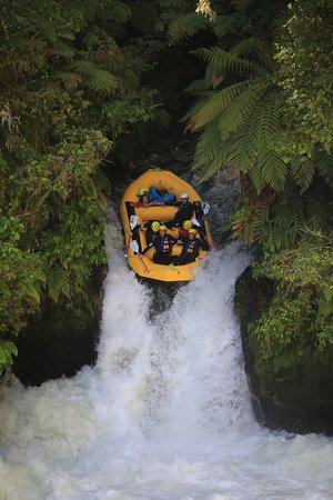 Okere Falls, Nueva Zelanda: The big hit!