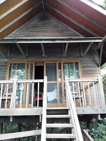 Permai Rainforest Resort: View of our treehouse from the balcony!