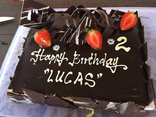 Mades Banana Flour Company Custom Chocolate Cake And Gluten Free For Lucas Birthday