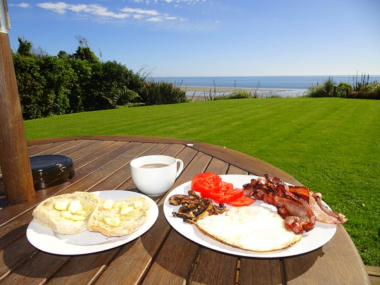 Adrift in Golden Bay: A self prepared English breakfast.