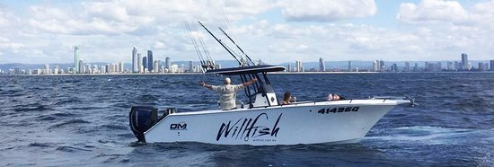 Main Beach, Australia: Willfish out on a charter on the Gold Coast