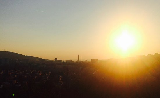 Foodie Walk: Sun set over Zlin