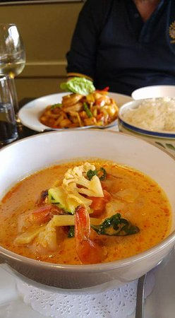Stir fry and red curry