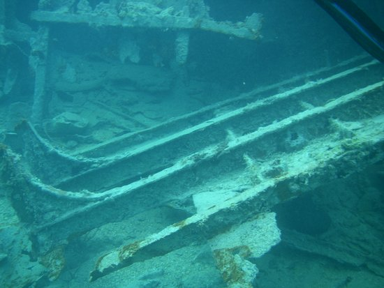 New Providence: Part of the sunken wreck off Athol Island