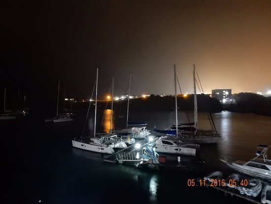 True Blue Bay Boutique Resort: Night view from my bedroom