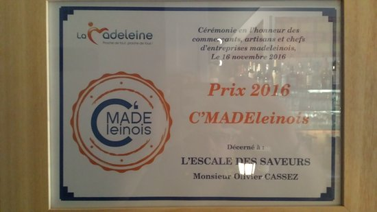Prix du commerce 2016 Ville de La Madeleine