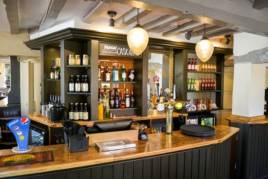 The Crown Inn: bar stocked with great brands for all.