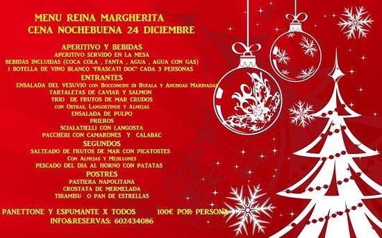 Menu Cenone Vigilia Di Natale.Menu Cena Vigilia Di Natale Picture Of Reina Margherita Barcelona Tripadvisor