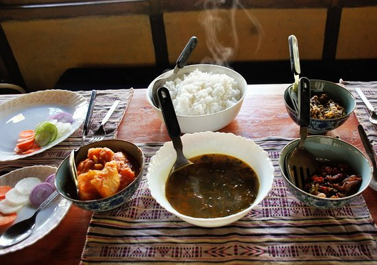 Mangan, Indien: local cuisine