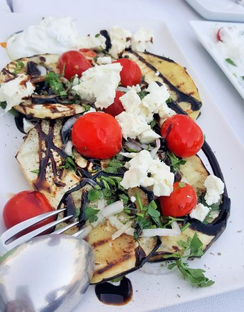 Salt & Pepper: Grilled eggplant with fetta