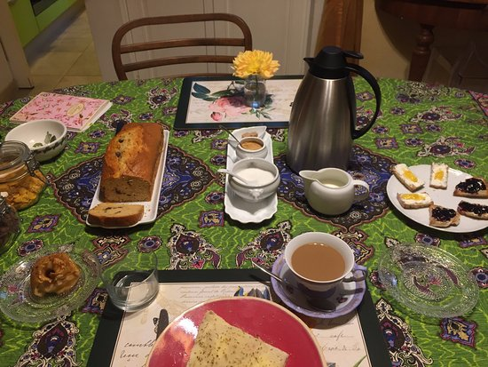 B&B Monte Oliveto: beautiful breakfast prepared by Donatella