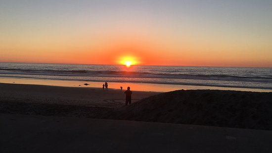 Del Mar, CA: This is the sunset from the terrace. Stunning.