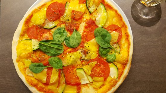 Panevezys, Litauen: Vegan pizza
