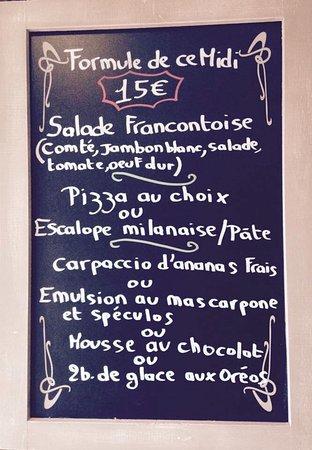 Le Creusot, France: Exemple d'une formule du midi!