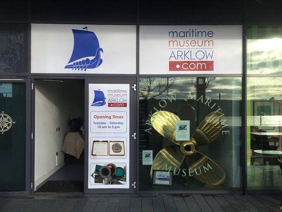 Arklow Maritime Museum: The outside of the museum, we're just up the stairs and to the right.