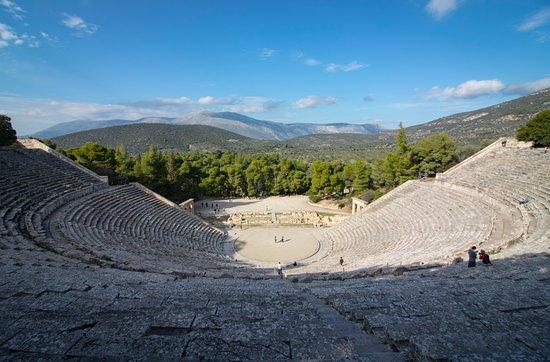 Epidavros theatre and surroundings