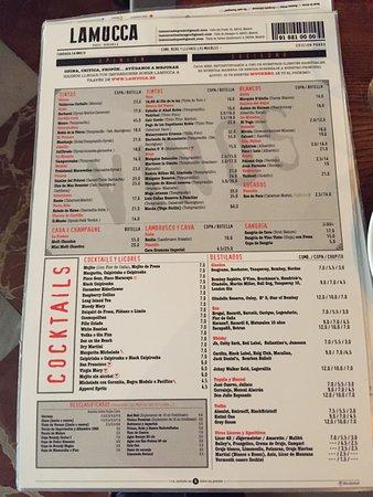 Carta fotograf a de lamucca de prado madrid tripadvisor for Restaurante la mucca madrid calle prado