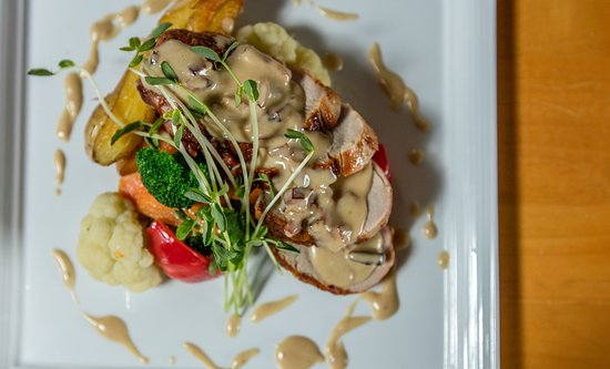 Chatham, Canada: Pork Tenderloin with Double Smoked Bacon and a Peppercorn Cream Sauce