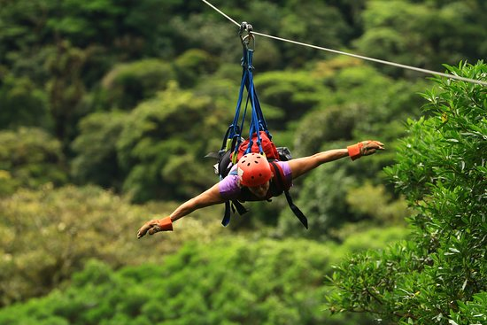 Naranjo, Costa Rica: Flying above the trees!