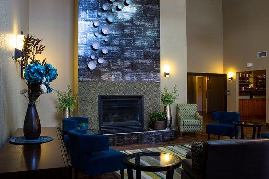 Menomonie, WI: Lobby Fireplace