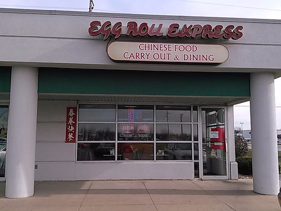 Zeeland, MI: The front of Egg Roll Express in strip mall 112 St. at Chicago Drive