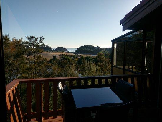 Kaiteriteri, New Zealand: Aussicht Zimmer Nr 15