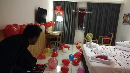 Birthday Decoration On Bed