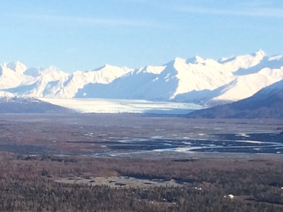 Palmer, AK: View of Knik Glacier from the Butte.