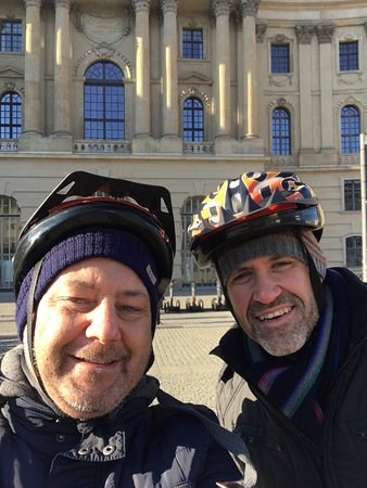 Fat Tire Tours Berlin: Our Sunday morning Segway tour- it was a cold day - but so much fun!